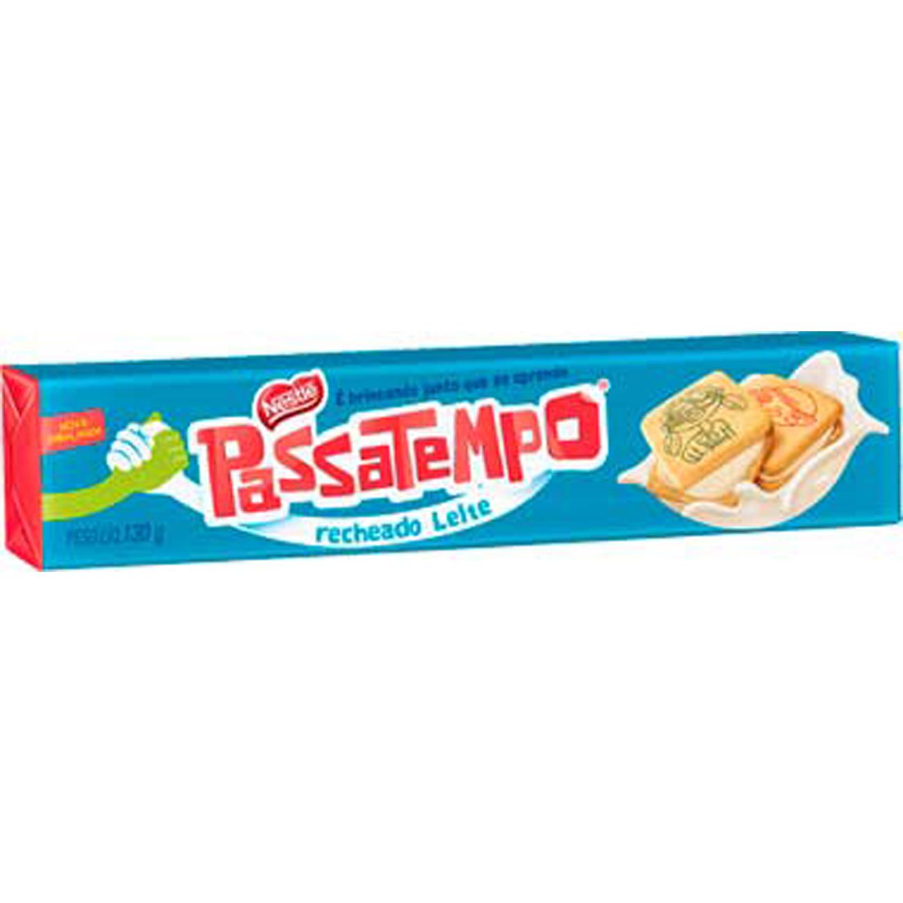 Biscoito Recheado Nestle Passatempo Leite 130G