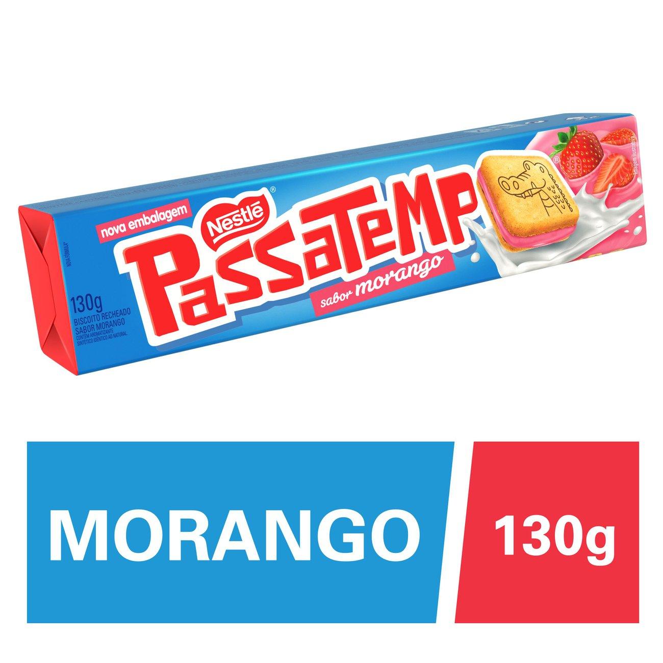 Biscoito Recheado Nestle Passatempo Morango 130G