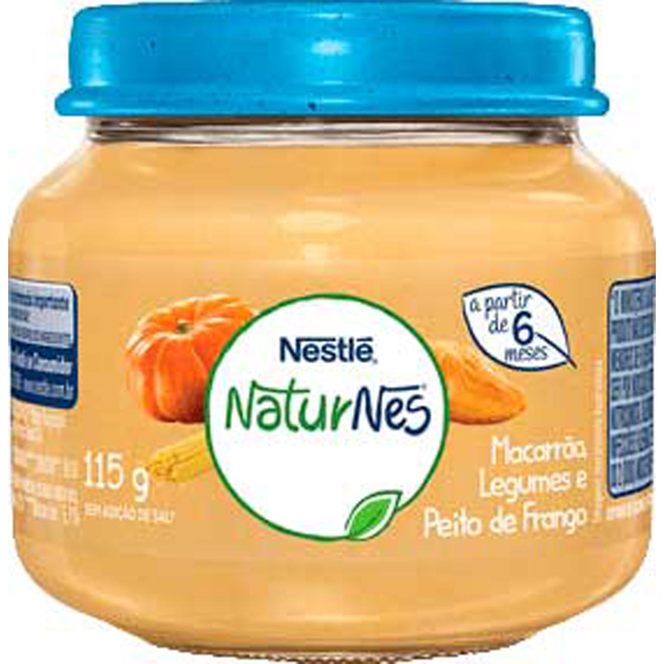 Papinha Nestle Peito de Frango, Legumes E Macarrao 115G