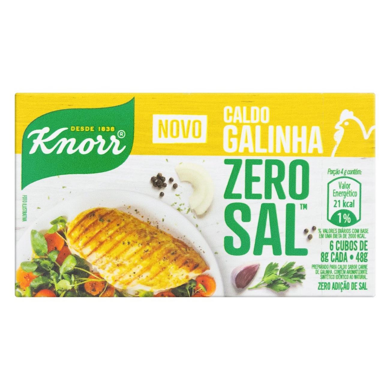 Caldo Knorr Galinha Zero Sal 48Gr
