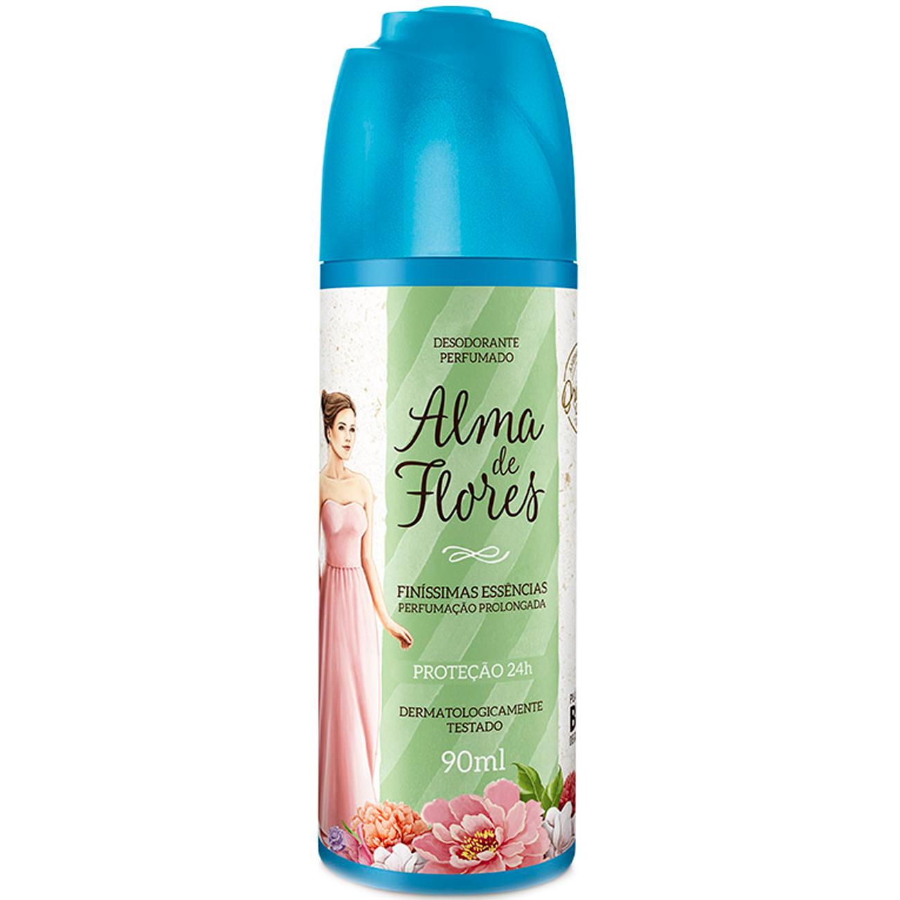 Desodorante em Spray Feminino Alma de Flores Classico 90Ml