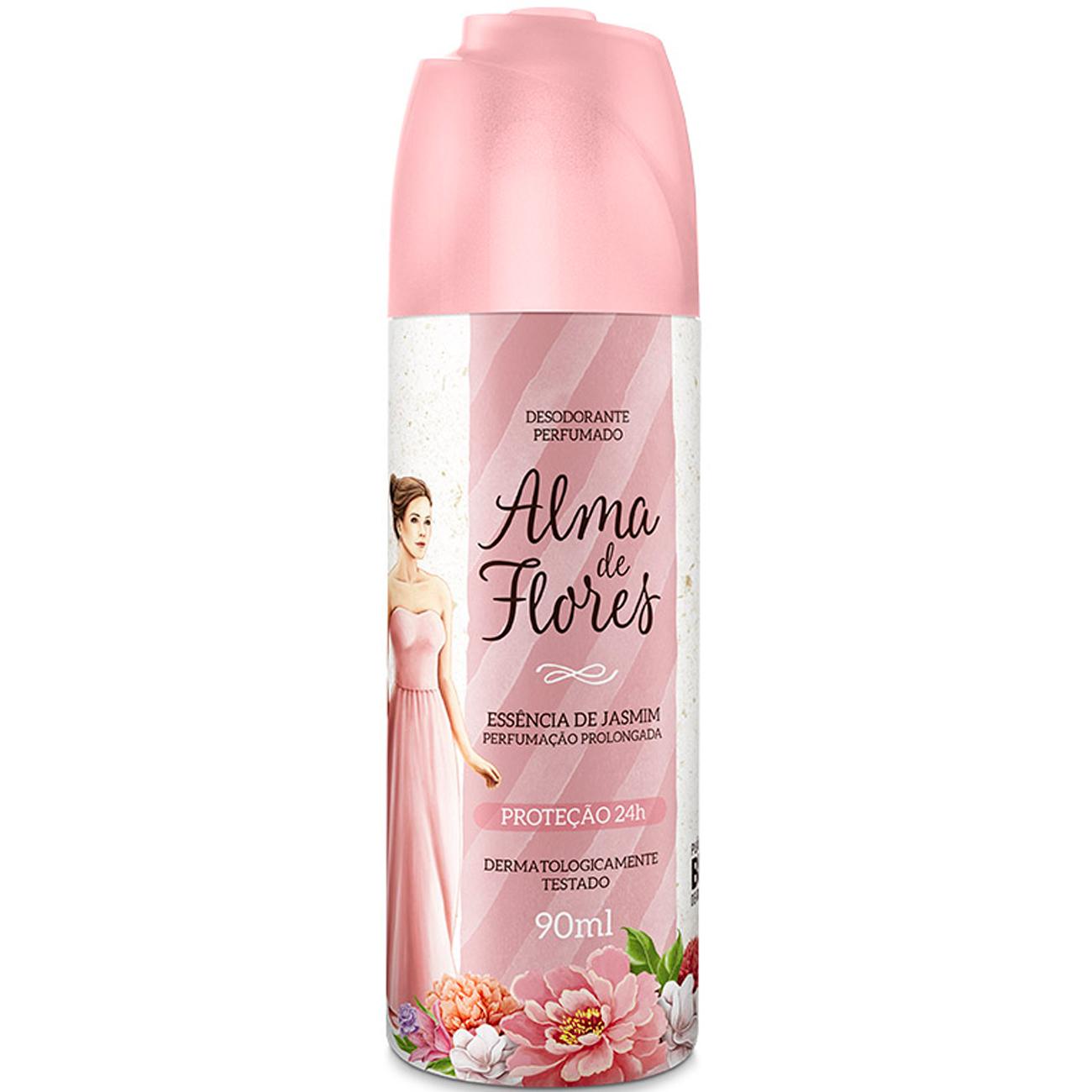 Desodorante em Spray Feminino Alma de Flores Jasmim 90Ml