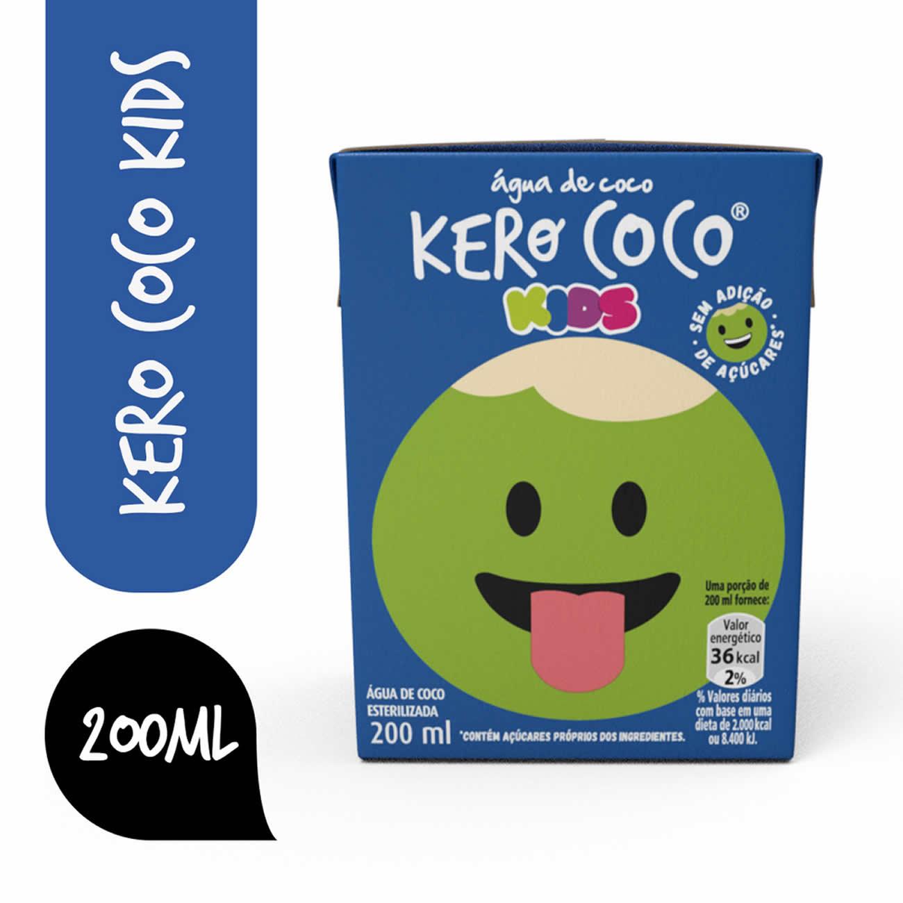 Água De Coco Esterilizada Kero Coco Kids Caixa 200Ml