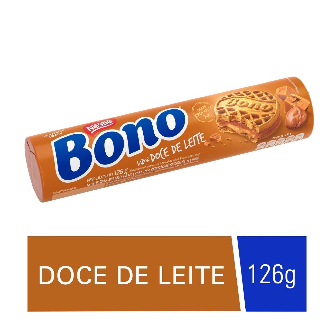 Biscoito Recheado Bono Doce de Leite 126g