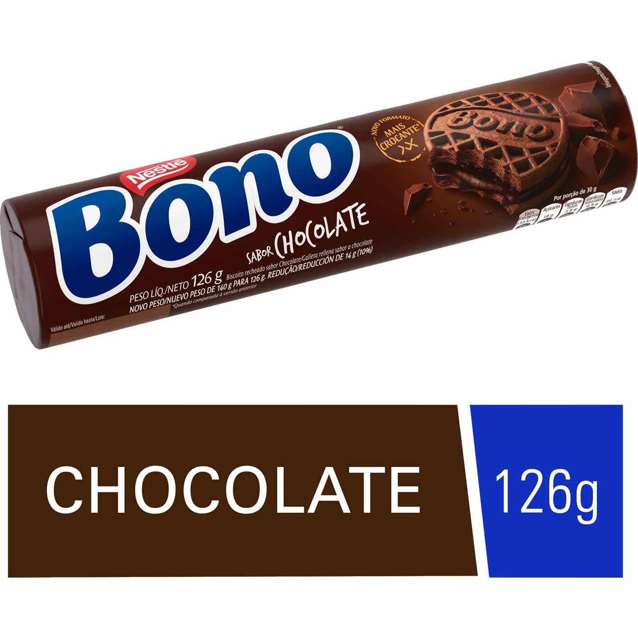 Biscoito Recheado Bono Chocolate 126g