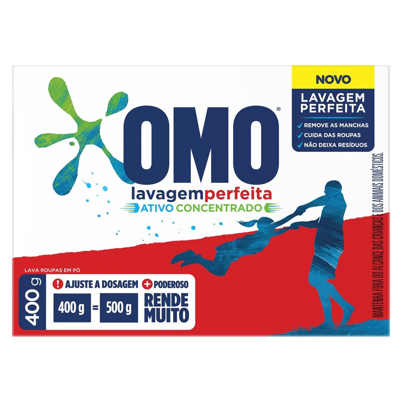 Detergente em Po Omo Lavagem Perfeita 400G