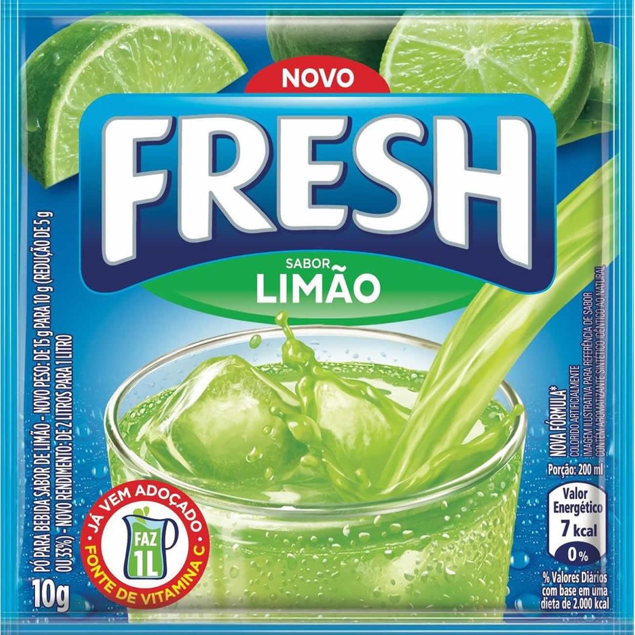 Refresco em Po Fresh Limao 10g