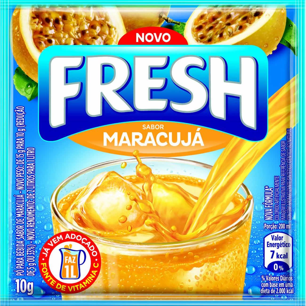 Refresco em Po Fresh Maracuja 10g