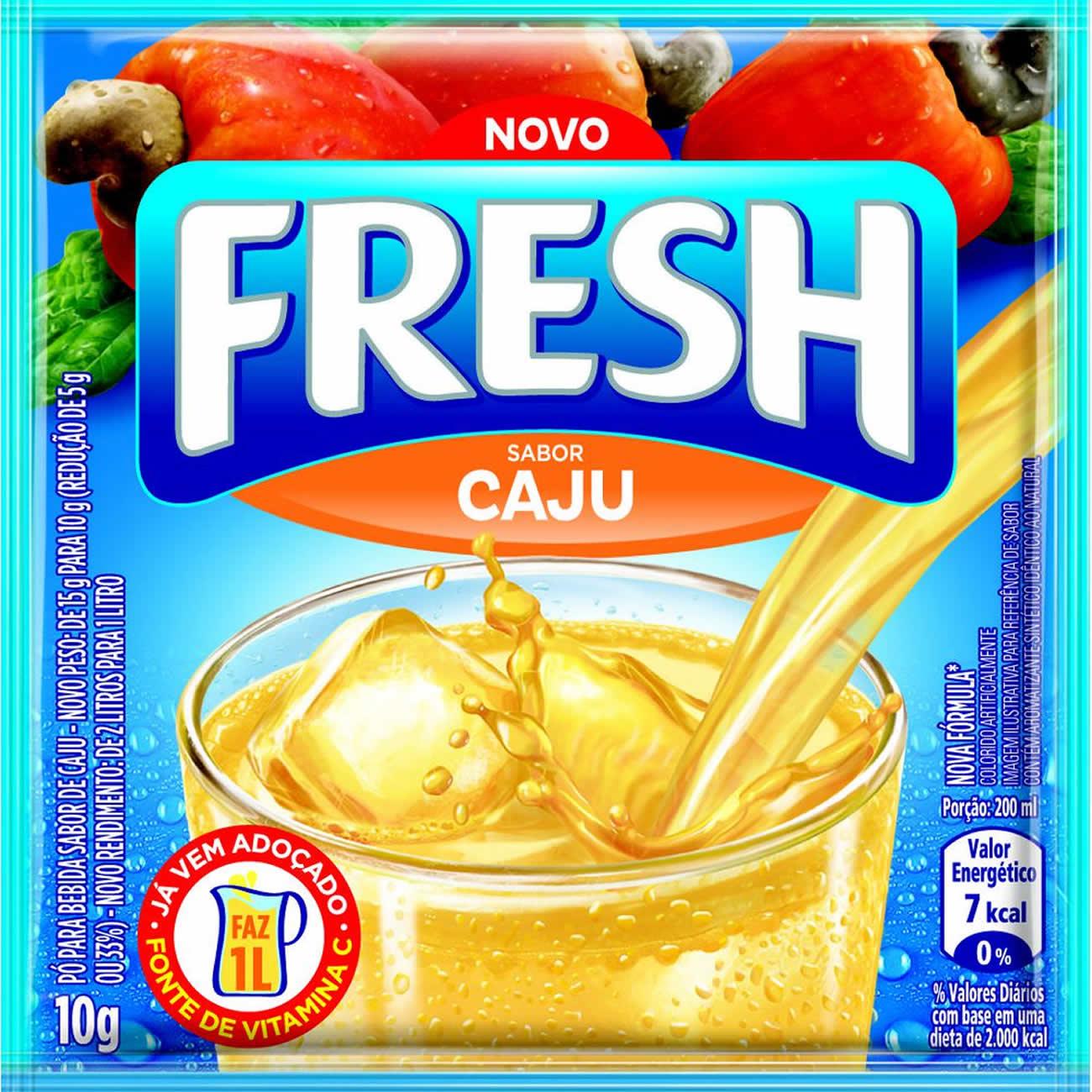 Refresco em Po Fresh Caju 10g