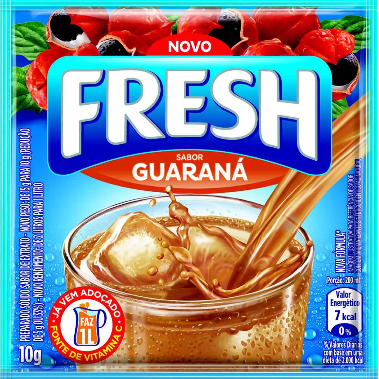 Refresco em Po Fresh Guarana 10g