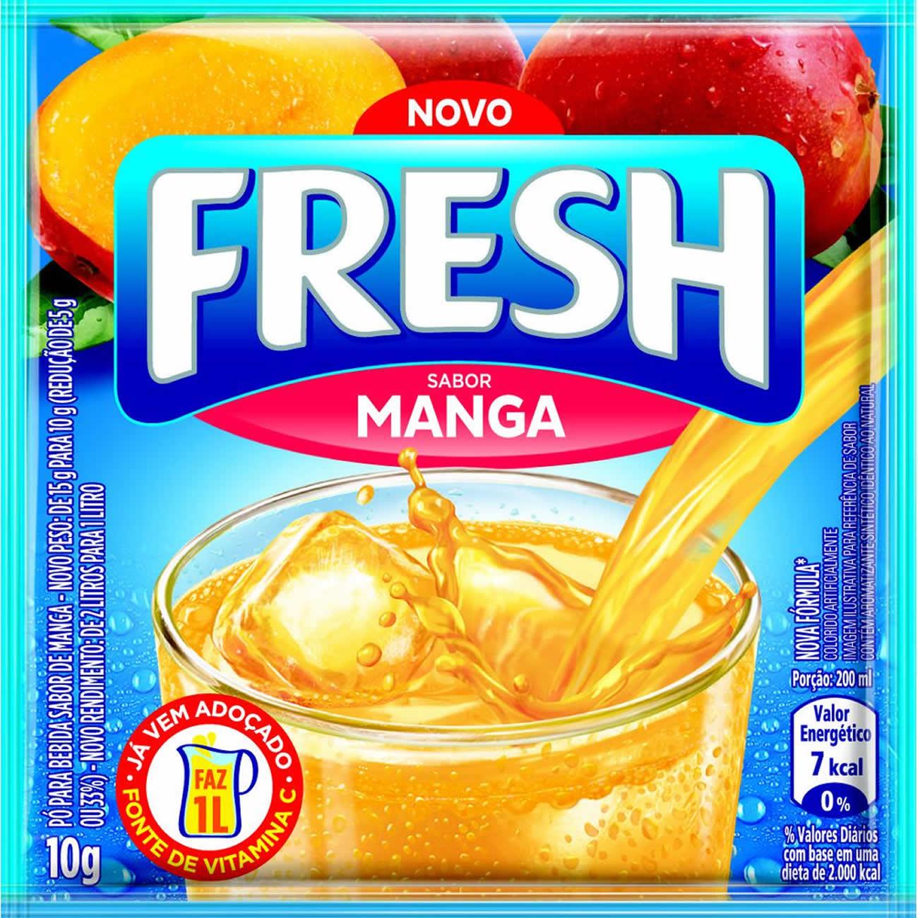 Refresco em Po Fresh Manga 10g