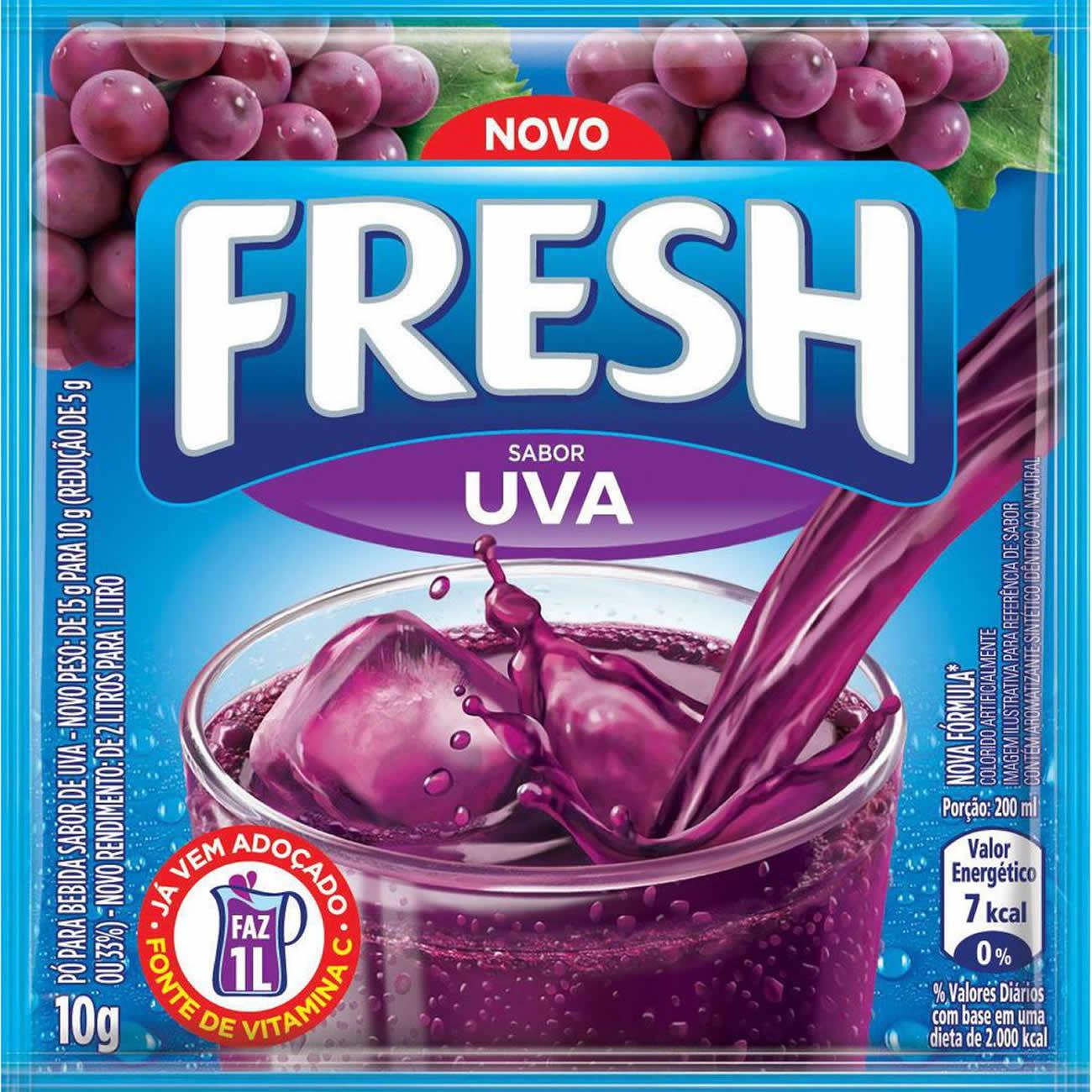 Refresco em Po Fresh Uva 10g