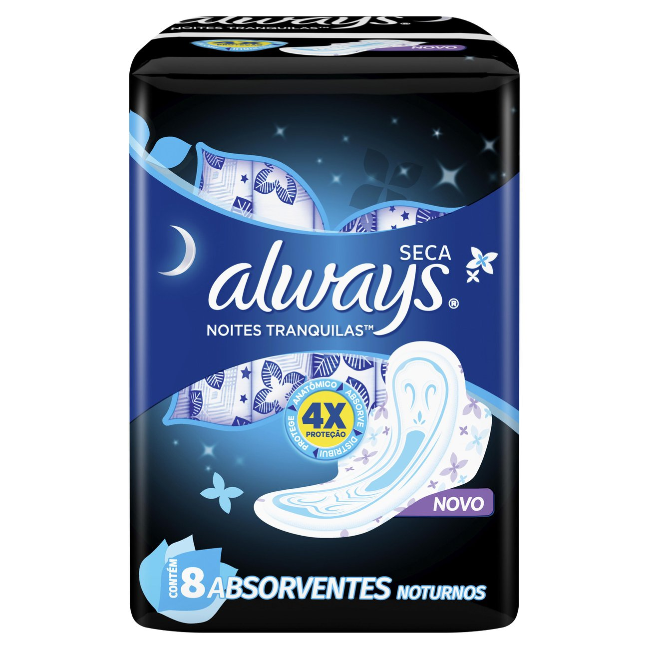 Absorvente Always Noites Tranquilas Seca com abas 8 Un