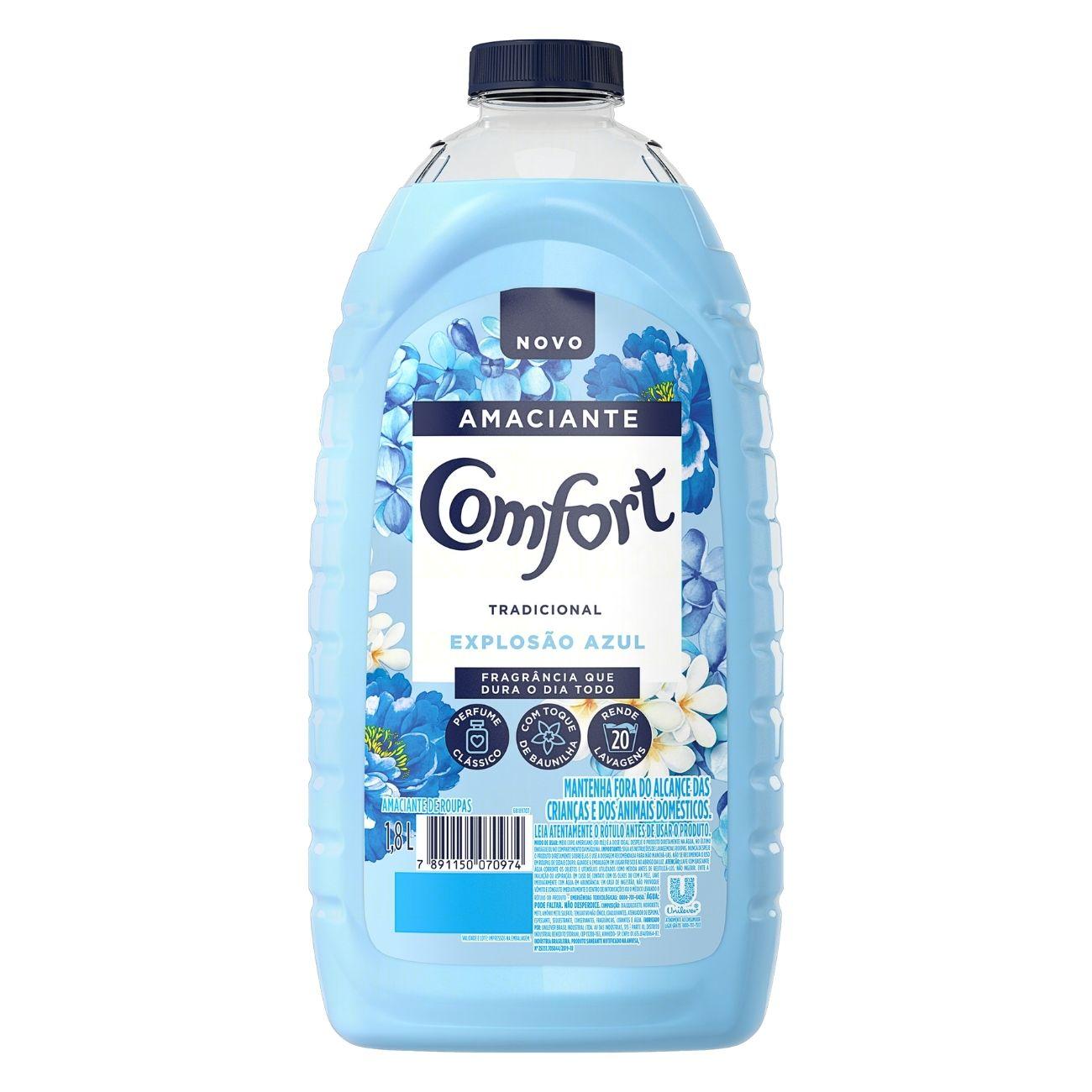 Amaciante Comfort Explosao Azul 1,8l