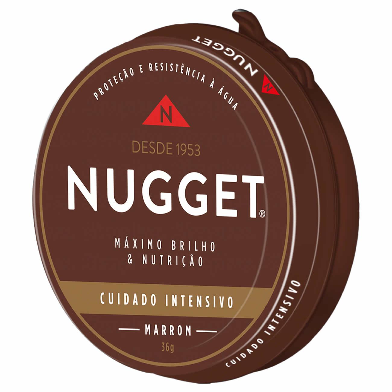 Cera para Calsados Pasta Nugget Marrom 36g